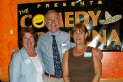 Chamber President Diane Farraher Smith, Ted Coates, and Lisa O'Laughlin of Intercity Home Care