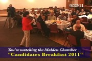 Ward 5 Councillor Barbara Murphy Addresses Attendees @ Meet The Candidates Breakfast 9/2011