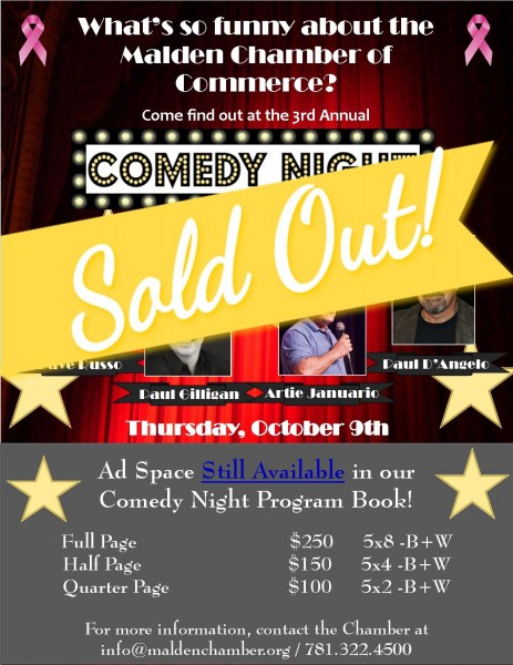 Comedy Night Flyer SOLD OUT