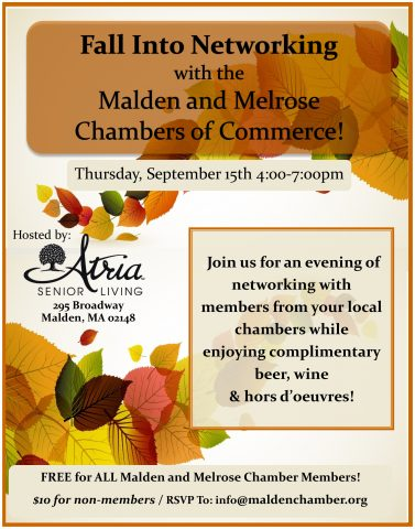 Fall Networking. Malden Graphic