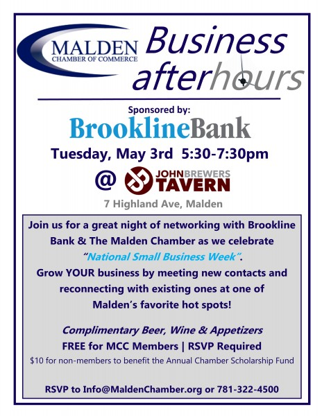 """Business After Hours"" @ John Brewers Tavern"