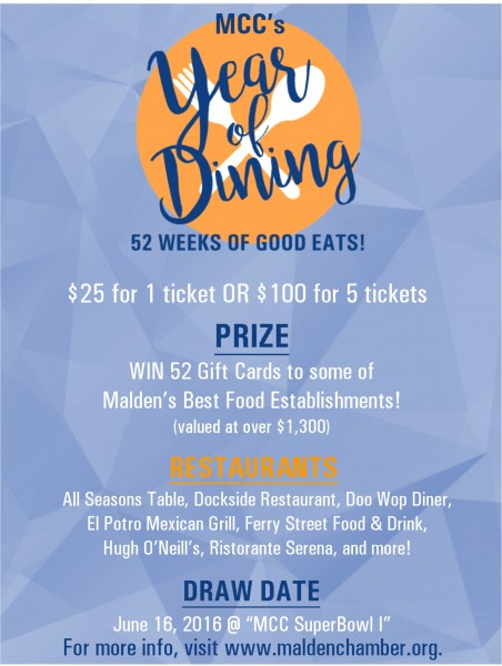 2016 Year of Dining Raffle
